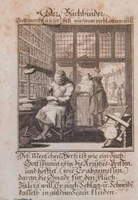 Weigel, Christoph: Der Buchbinder. ( A könyvkötő) (The bookbinder)